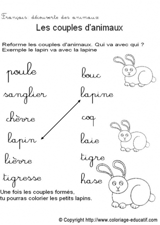 Favori Coloriage educatif - Vocabulaire QT69